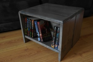Here's a bookshelf footstool I built for a friend.